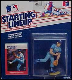 1988 Baseball Bret Saberhagen Starting Lineup Picture