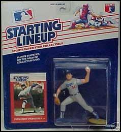 1988 Baseball Fernando Valenzuela Starting Lineup Picture