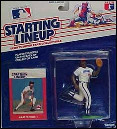 1988 Baseball Julio Franco Starting Lineup Picture
