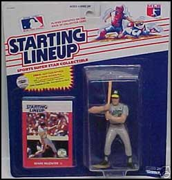 1988 Baseball Mark McGwire Starting Lineup Picture