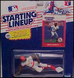 1988 Baseball Vince Coleman Starting Lineup Picture