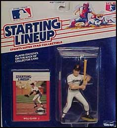 1988 Baseball Will Clark Starting Lineup Picture