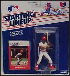 1988 Baseball Willie McGee Starting Lineup Picture