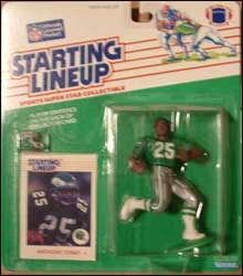 1988 Football Anthony Toney Starting Lineup Picture