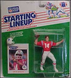 1988 Football Steve Grogan Starting Lineup Picture