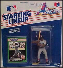 1989 Baseball Ellis Burks Starting Lineup Picture