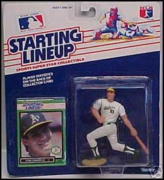 1989 Baseball Jose Canseco Starting Lineup Picture