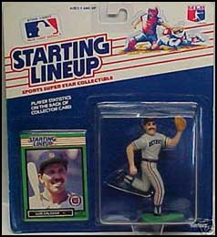 1989 Baseball Luis Salazar Starting Lineup Picture