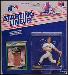 1989 Baseball Mark McGwire Starting Lineup Picture