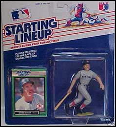 1989 Baseball Wade Boggs Starting Lineup Picture