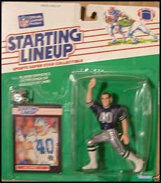 1989 Football Bill Bates Starting Lineup Picture