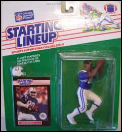 1989 Football Bill Brooks Starting Lineup Picture