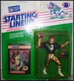1989 Football Bobby Hebert Starting Lineup Picture