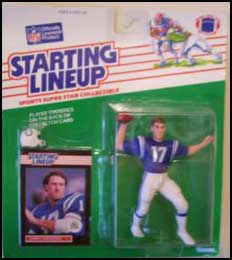 1989 Football Chris Chandler Starting Lineup Picture