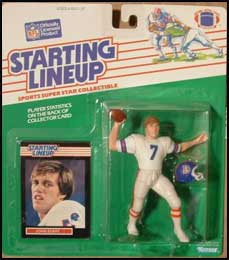 1989 Football John Elway Starting Lineup Picture