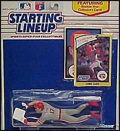 1990 Baseball Chris Sabo Starting Lineup Picture
