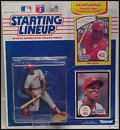 1990 Baseball Eric Davis Starting Lineup Picture