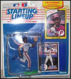 1990 Baseball Juan Samuel Starting Lineup Picture