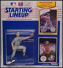 1990 Baseball Mark McGwire Starting Lineup Picture