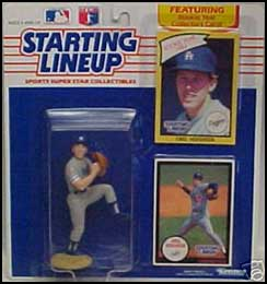1990 Baseball Orel Hershiser Starting Lineup Picture