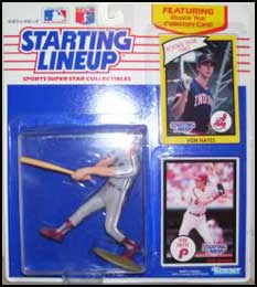 1990 Baseball Von Hayes Starting Lineup Picture