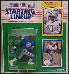 1990 Football Barry Sanders Starting Lineup Picture