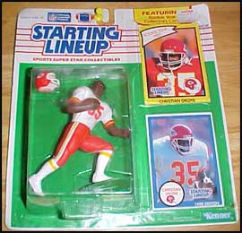 1990 Football Christian Okoye Starting Lineup Picture