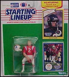 1990 Football Doug Flutie Starting Lineup Picture