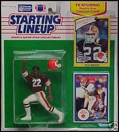 1990 Football Felix Wright Starting Lineup Picture