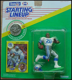1991 Football Barry Sanders Starting Lineup Picture