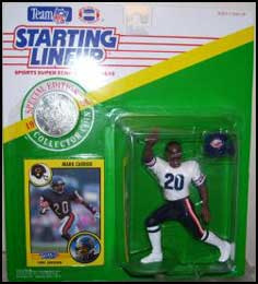 1991 Football Mark Carrier Starting Lineup Picture