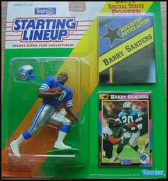 1992 Football Barry Sanders Starting Lineup Picture