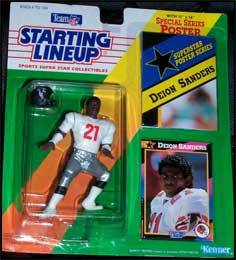 1992 Football Deion Sanders Starting Lineup Picture