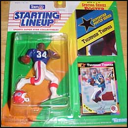1992 Football Thurman Thomas Starting Lineup Picture