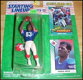 1993 Football Andre Reed Starting Lineup Picture