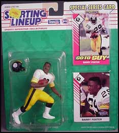 1993 Football Barry Foster Starting Lineup Picture