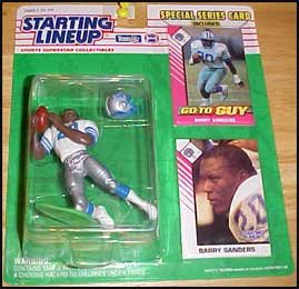 1993 Football Barry Sanders Starting Lineup Picture