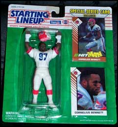 1993 Football Cornelius Bennett Starting Lineup Picture