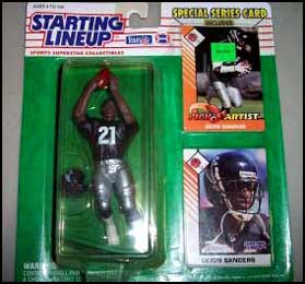 1993 Football Deion Sanders Starting Lineup Picture