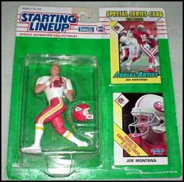 1993 Football Joe Montana Starting Lineup Picture