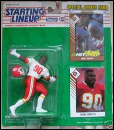 1993 Football Neil Smith Starting Lineup Picture