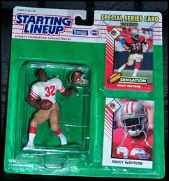 1993 Football Ricky Watters Starting Lineup Picture
