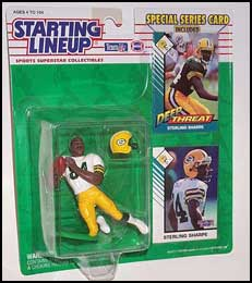 1993 Football Sterling Sharpe Starting Lineup Picture
