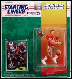 1994 Football Brent Jones Starting Lineup Picture