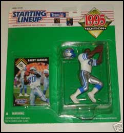 1995 Football Barry Sanders Starting Lineup Picture