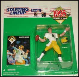 1995 Football Brett Favre Starting Lineup Picture