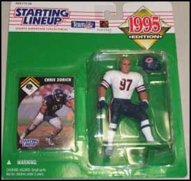 1995 Football Chris Zorich Starting Lineup Picture