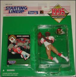 1995 Football Deion Sanders Starting Lineup Picture
