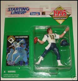 1995 Football Stan Humphries Starting Lineup Picture
