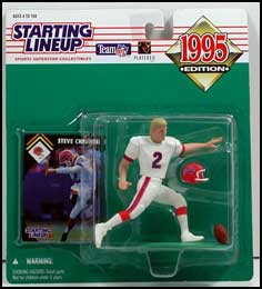 1995 Football Steve Christie Starting Lineup Picture